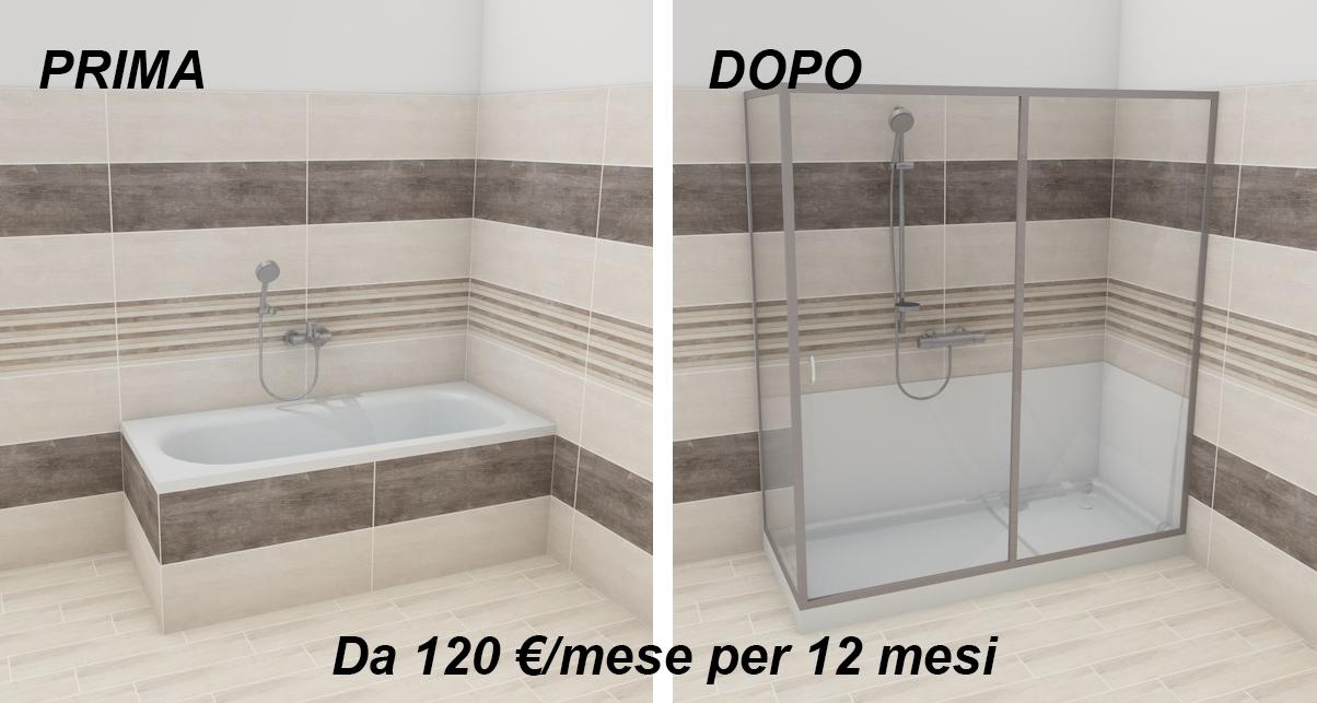 Da vasca a doccia vasca da bagno doccia da incasso in corian